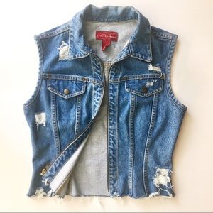 Vintage Limited Jeans | Distressed Denim Vest